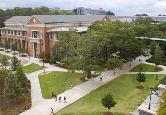 exterior of tate student center