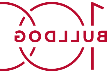Logo with red bulldog 100